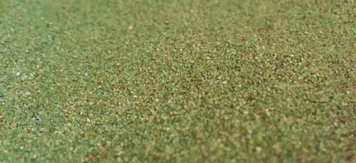 Sabbia di quarzo verde erba