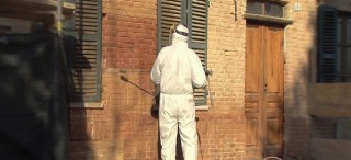 Sabbiatura al quarzo per pulizia muri